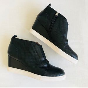 [Paolo] Felicia Soft Leather Sneaker Wedge Boot